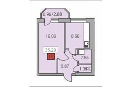 Продається 1-но кімнатна квартира в ЖК Новий Парковий