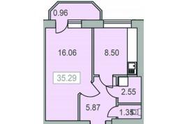 Однокімнатна квартира з індивідуальним опаленням, ЖК Новий Парковий