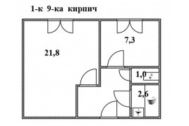 1-к квартира з нішею, в районі Благовісна-Сєдова