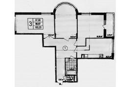 Квартира 100 м.кв., вільного планування в новобудові на Митниці.
